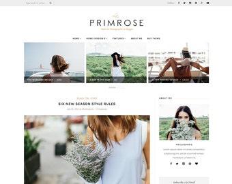 Wordpress theme - wordpress template- Feminine wordpress theme - Responsive WordPress Theme - Blog template - Fashion template - La Primrose