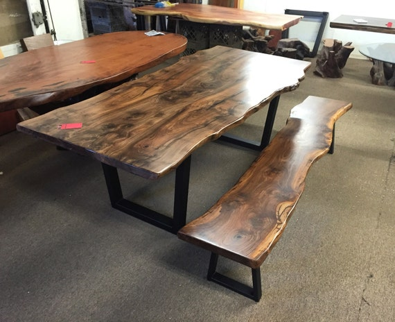 Walnut Table U0026 Bench By Dog And Pig Furniture