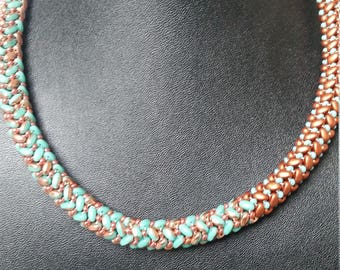 The Texas spiral twinsbeads beads and seed beads necklace