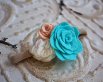 Floral headband || Pick your colors || FREE SHIPPING