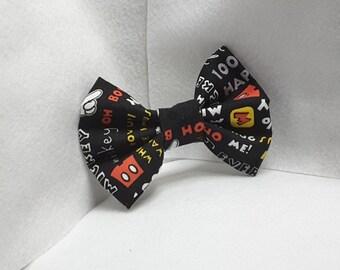 mickey mouse hair bow,hair accessories, fabric hair bow