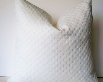 White Pillow, Ivory Pillow Solid White Pillow Waverly Round We Go Snow BOTH SIDES 0