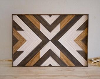 "Wood Wall Hanging - 20"" x 14"" x 1.5"" - Mixed Tones"