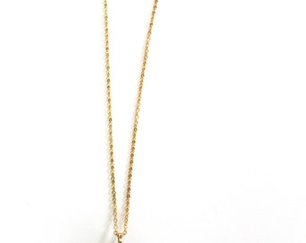 Raw Turquoise Nugget Necklace with 24k Gold Dipped Top On A 24k Gold Plated Chain