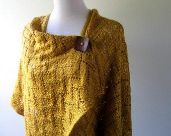 Hand Knit Shawl / Wrap/ Poncho