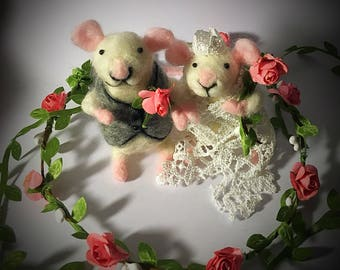 Mouse wedding toppers