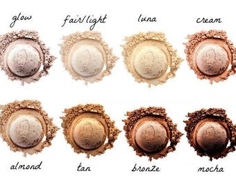 Natural mineral foundation, vegan foundation, four in one mineral powder, cruelty free
