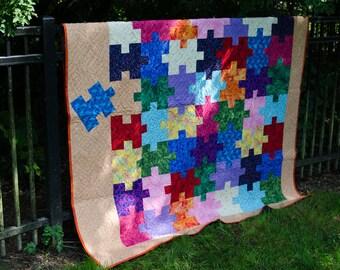 Puzzle It Out quilt pattern - Digital download
