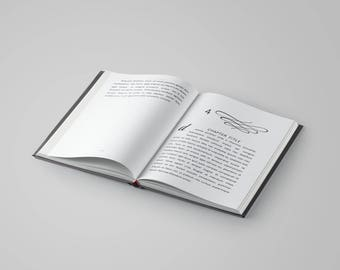 MAGIC Book Interior Design Template - 36+ Pages - 5 Chapter Design Options - Fonts Included