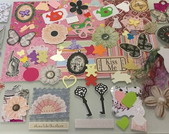 Junk Journal Kit, Scrapbook Kit, Ephemera Pack, Card Making Die Cuts & Embellishments, Ideal For Any Crafter