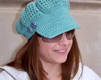 Crochet Newsboy Hat Pattern, Crochet Pattern Hat, Crochet Hat Pattern, Newsboy Cap, Crochet Hat Women, Spring Crochet Pattern Accessories