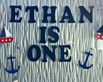 Ethan is One (Printable Letters)