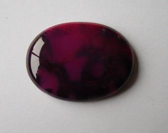 dyed agate gemstone, 30x40mm