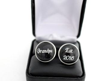 Grandparent Gift, Grandpa Cufflinks, Father's day gift Gift for Grandfather, Grandpa Gift, First time Grandpa, Grandpa Father's Day Gift