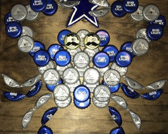 THE ORIGINAL Blue and Silver Beer Bottle Cap Crab©