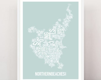 Sydney - Northern Beaches Type Print