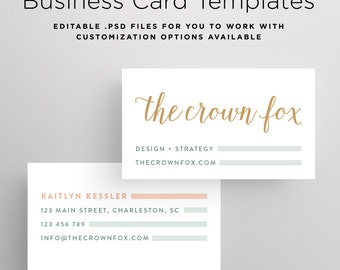 Edgy Business Card Etsy - Business card template printable