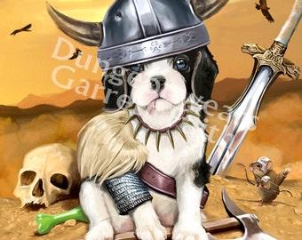 Barbarian Puppy Art Print