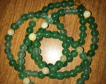 Green aventurine and yellow citrine 6mm bracelets in support of the humboldt broncos fund. 50% of sales will be donated to help the families