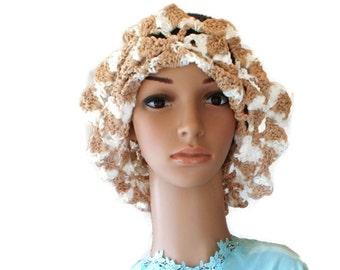 Crochet Summer Hat, Cotton Summer Hat, Garden Party Hat, Womens Hat, Beach hat, Navy Summer Hat, Gardening Hat, Garden Hat, Cloche