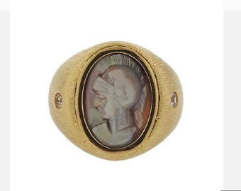 10k Gold Shell Cameo Ring