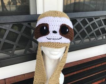 Crochet Sloth Hat