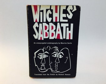 Vintage Occult Book Witches' Sabbath by Maurice Sachs 1964 Hardcover