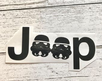 Decal-Jeep Clone Trooper Helmet Vinyl Decal STAR WARS