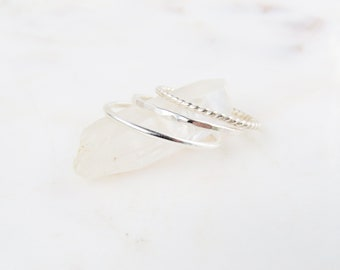 Layering Rings | Simple Silver Ring | Silver Ring | Stacking Rings | Minimalist Ring | Layered Ring | Dainty Ring | Valentines Day