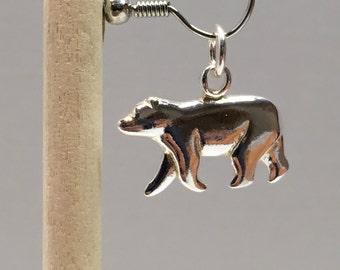 925 Sterling Silver Polar Bear Charm, Polar Bear Charm