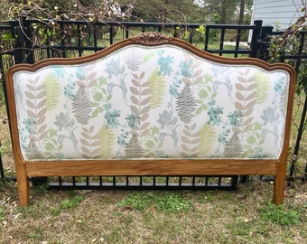 French Antique Newly Upholstery Headboard