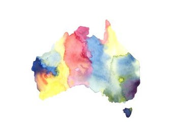 Australia Print - Watercolour Painting