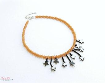 Stars necklace, starry jewelry, dreamy, romantic