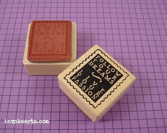 Passion Post Stamp / Postoid / Invoke Arts Collage Rubber Stamps