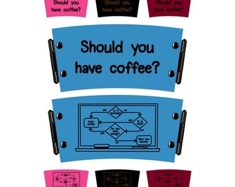 Leather and cork cup sleeve - Should you have coffee?