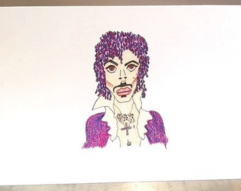 PRINCE. a card for all fans. forever he will rain. let's party like it's 1999. u got the look. i just want your kiss. nothing compares 2 u.