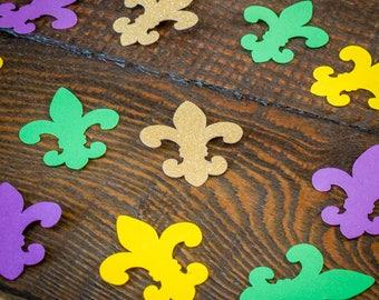 Fleur De Lis Mardi Gras Confetti