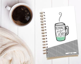 Mother's Day Gift. Personalized Coffee Notebook. Gifts for Mom. Customized Notebook. Bullet Journal Notebook. Custom Journal.