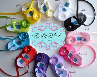 BBB Cotton Solid Color Collection Baby Shoes Baby Ballerina Slipper Various Colors Available