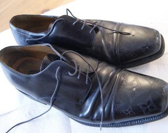 Vintage Louis Vuitton classic Shoes size 8 1/2 Black Leather Men shoes