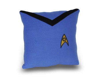 Star Trek Science Officer  Blue Pillow