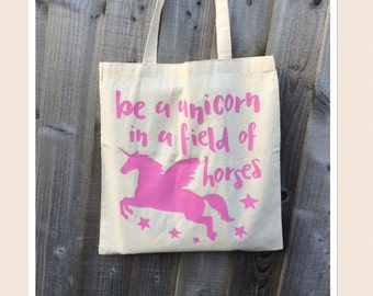 Unicorn Quote Tote Bag