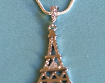 Eiffel Tower Small Crystal Necklace