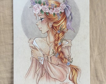 Freckles and Flowers (Print)