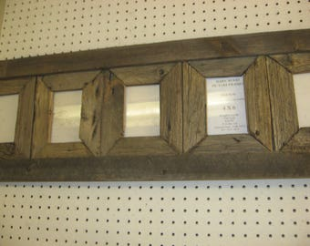 Rustic Barn Wood, 4 X 6  5 Place Collage
