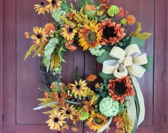 Simmer Floral Wreath