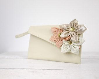 Flower girl's gift | custom flower girls wristlet clutch