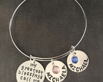 Personalized Mom Jewelry - Mothers Day Jewelry - Mothers Jewelry Personalized - Personalized Gift - Gifts for Mom - Mothers Jewelry - Silver