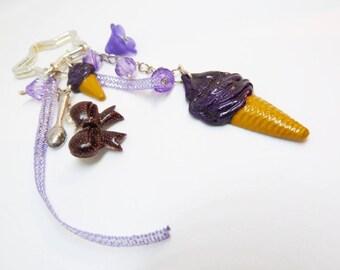 Porte clef / bijou de sac thème ice cream