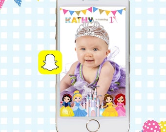 Snapchat GeoFilters, Birthday Snapchat Filters, Party Snapchat Filter, Princess Snapchat GeoFilter, Princess Birthday Party, Princess Filter